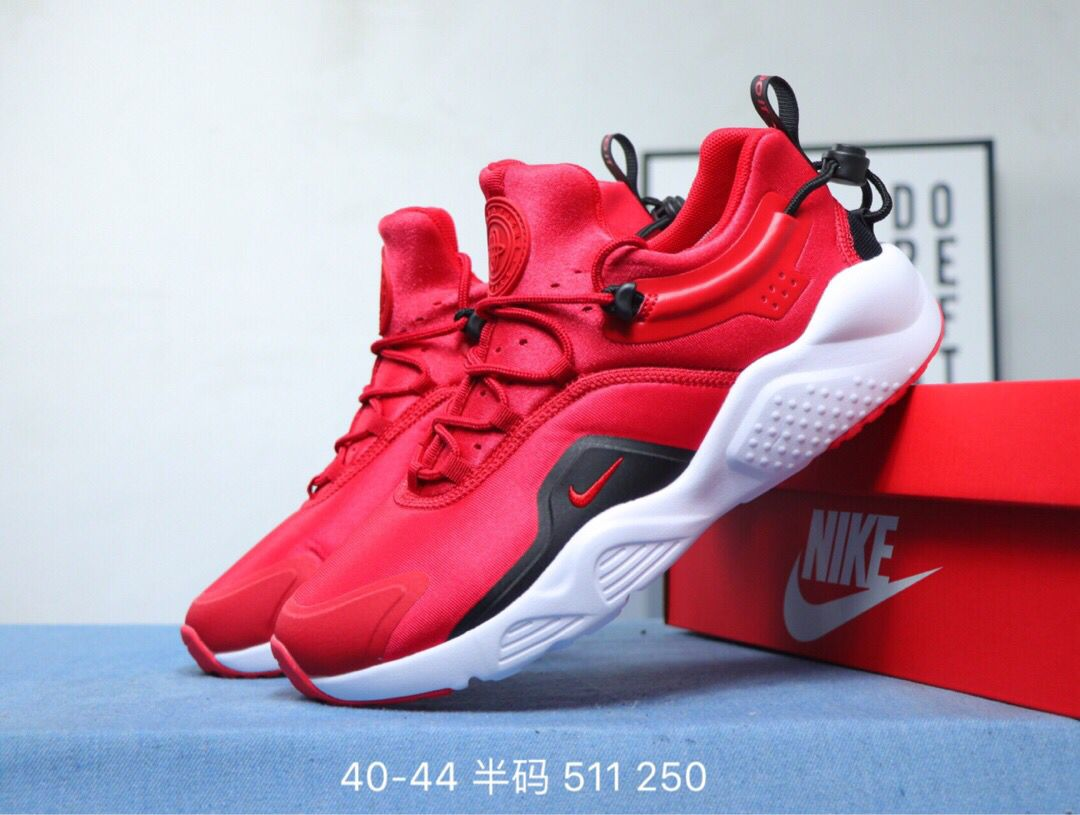2020 Men Nike Air Huarache 8 Red Black White Shoes
